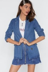 Nasty Gal Live Beyond Your Jeans Denim Blazer in Blue | casual jackets