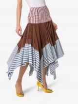 Loewe Layered Gingham Print Handkerchief Skirt / multicoloured skirts / multi check prints