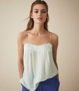 LOIS SILK PLEAT DETAIL CAMI AQUA ~ luxe camisole ~ essential feminine style
