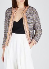M MISSONI Metallic knitted-tweed jacket ~ fringed gold-thread jackets