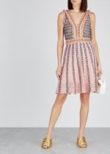 M MISSONI Pink knitted tweed dress ~ gold thread dresses