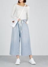 MM6 BY MAISON MARGIELA Light blue wide-leg denim culottes ~ cropped pants