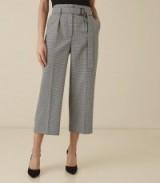 REISS MOLLIE BELTED CULOTTES MONOCHROME ~ chic crop leg pants