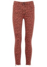 MOTHER Looker red leopard-print jeans ~ printed denim skinnies