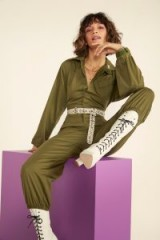 NASTY GAL Nasty Gal Vintage Boiling Point Boilersuit in khaki – dark green boilersuits