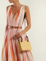 ROKSANDA Neneh mini wooden-handle leather clutch in yellow / stylish handbag for spring