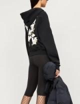 OFF-WHITE C/O VIRGIL ABLOH Flower back cotton hoody in black | printed hoodies