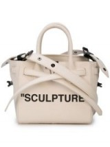 OFF-WHITE sculpture tape crossbody bag / small slogan bags