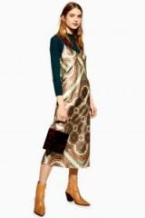 TOPSHOP Paisley Satin Slip Dress ~ slinky cami strap dresses