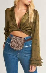 PAMELA V ORIANA STUD FANNY PACK ~ DARK BROWN – leather studded bum bag