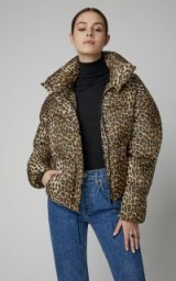 Apparis Paula Leopard-Print Shell Puffer Jacket | padded animal-print winter jackets