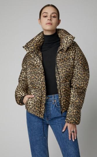 Apparis Paula Leopard-Print Shell Puffer Jacket | padded animal-print winter jackets