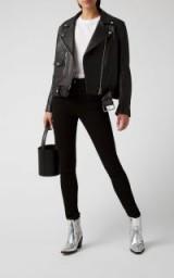 Acne Studios Peg High-Rise Skinny Jeans in Black | dark denim skinnies