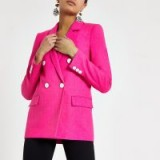 RIVER ISLAND Pink double breasted blazer ~ bright jackets