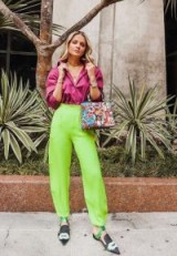 Neon street style outfit