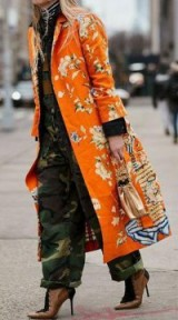 MIXED PRINT STREET STYLE OUTFIT / FLORAL & CAMO PRINTS