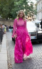 Nicky Hilton Rothschild pretty in pink