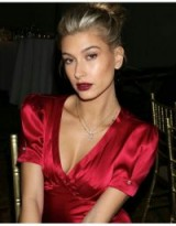 Hailey Rhode Bieber updo | models make-up | celebrity beauty