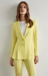 BCBGMAXAZRIA Pleated Peplum Jacket in Limelight ~ yellow jackets ~ spring/summer colours ~ BCBG Max Azria