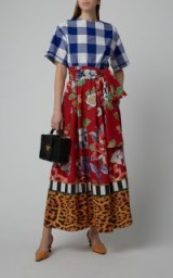 Stella Jean Printed Voile Maxi Dress in Floral. MIXED PRINT DRESSES