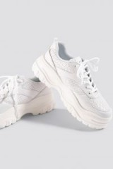 NA-KD Shoes ~ Profile Sole Sneakers White – chunky trainers