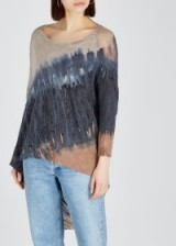 RAQUEL ALLEGRA Tie-dye jersey top / distressed tops