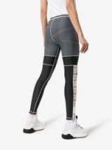 RBN X Bjorn Borg Contrast Stitch Knitted Panel Zipped Cuff Leggings – colour block sports pants
