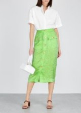REJINA PYO Lily lime button-embellished skirt ~ green skirts ~ fresh colours for spring