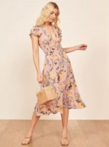 REFORMATION Riegan Dress in Conga / tropical floral rints