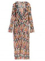 BALENCIAGA Ruffled flag-print faille dress ~ designer prints