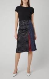 Sportmax Sabrina Polka-Dot Silk-Satin Skirt ~ multi spot prints