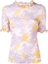 SEE BY CHLOÉ Cloudy Flowers ruffled T-shirt / ruffle edged tee
