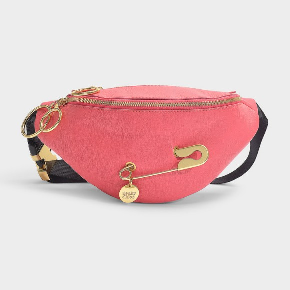 see by chloé MINDY BELT BAG IN ARDENT PINK GRAINED COW LEATHER AND POLYESTER WEBBING – hello Barbie!