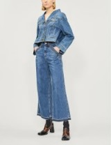 Self Portrait x Lee cropped high-rise flared jeans in blue ~ super flares