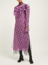 HARRIS REED Sequin and mesh midi dress in pink