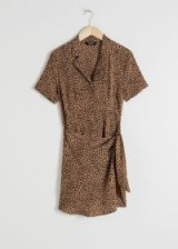 & other stories Side Tie Leopard Mini Dress
