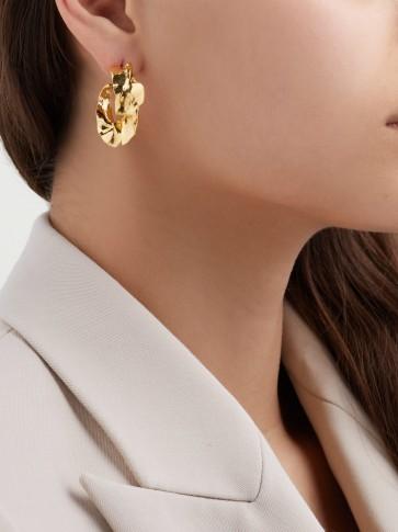 MISHO Sierra 22kt gold-plated hoop earrings ~ luxe style hammered hoops