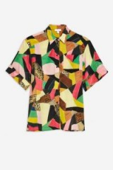 TOPSHOP Silk Patchwork Shirt by Boutique. MULTI-COLOURED SHIRTS