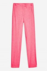 Topshop Boutique Skinny Trousers in Bright Pink