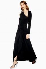 Topshop Slash Jersey Maxi Dress in black | evening glamour