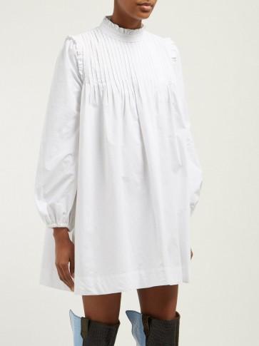GANNI Sandrose cotton broderie anglaise mini dress ~ American Prairie-style mini dress