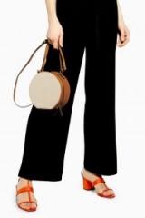 Topshop Soho Round Grab Bag in Tan