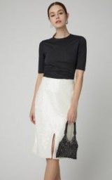 Ganni Sonora Sequined Chiffon Skirt ~ luxe style skirts