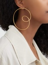 MISHO Spiral gold-plated hoop earrings ~ contemporary statement hoops