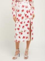 ALTUZARRA Stefano floral devoré-chiffon midi skirt ~ side slit skirts