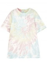 FREE PEOPLE Ponoma tie-dye linen-blend top ~ multi-coloured pastel tee