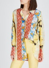 STINE GOYA Virgo floral-print silk shirt. MULTI FLOWER PRINTS