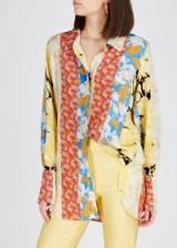 STINE GOYA Virgo floral-print silk shirt. MULTI FLOWER PRINTS
