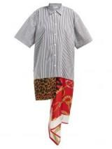 BALENCIAGA Pleated floral-print satin dress. ANIMAL / STRIPES / CHAIN PRINTS