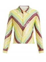 ASHISH Striped sequinned shirt ~ retro chevron stripes